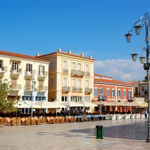 Nafplion's Beautiful Venetian Piazza