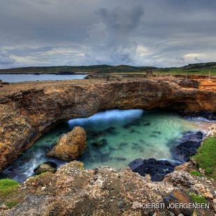 Natural rocky bridge