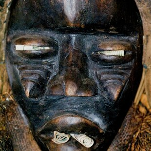 Traditional culture wooden mask