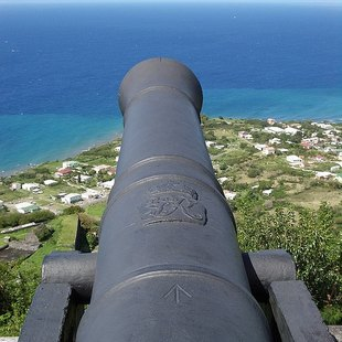 Cannon over St Kitts