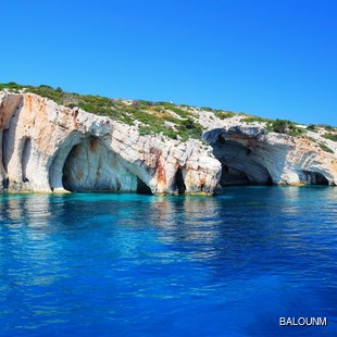Zakynthos Cliffs Rising from the Ionian Sea