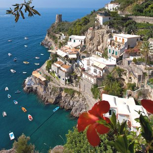 Italian mountainous coast