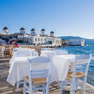 A Lunchtime View of Mykonos