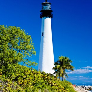 See the Cape Florida lighthouse
