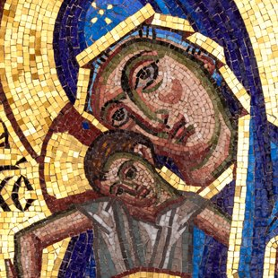 Byzantine Mosaic of the Virgin and Child