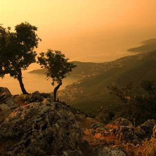 Rugged Landscape on the island of Kefalonia