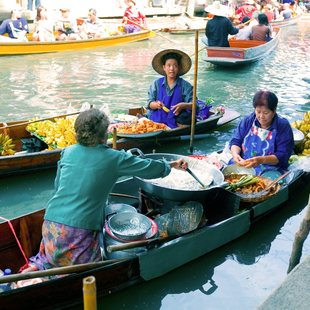 See the Incredible Floating Markets of Thailand