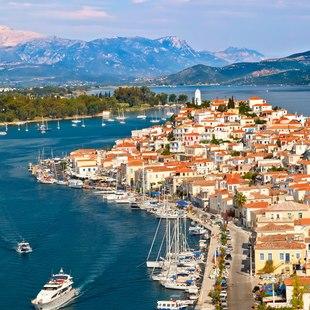 Aerial Views of Poros Port