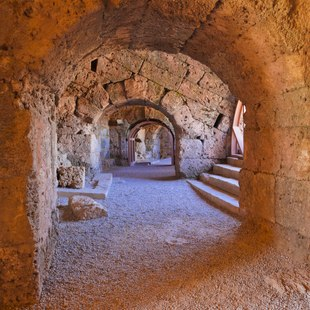 Tunnels of the Ancient Amphitheatre in Side