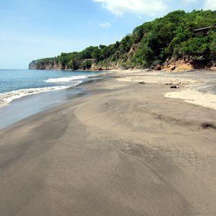 Calm and empty beach