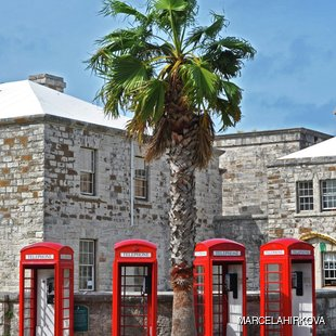 English phone booths in Bermuda