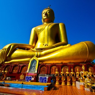 Meet the Huge, Gold Buddha who Reigns Over