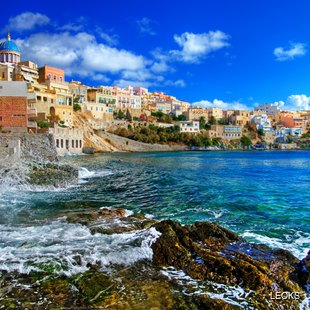 Colourful Coastal Architecture on the Island of Syros