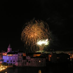 Fete de l'Assomption Celebration Fireworks in Calvi