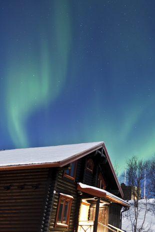 Amazing sky above a hut