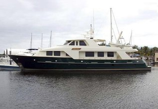 Dozer Charter Yacht at Palm Beach Boat Show 2014