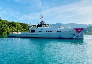 Pink Shadow Charter Yacht at Monaco Yacht Show 2019