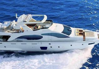 Blue Charter Yacht at Ft. Lauderdale Boat Show  2018 - Attending Yachts