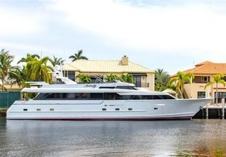 Audacity Charter Yacht at Fort Lauderdale Boat Show 2019 (FLIBS)