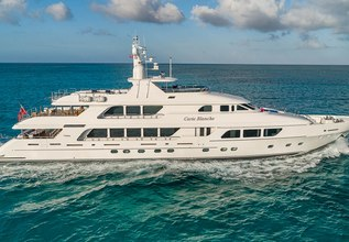 Carte Blanche Charter Yacht at Palm Beach Boat Show 2014