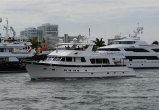 Barbara Sue II Charter Yacht at Fort Lauderdale Boat Show 2015