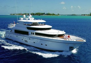 Rich Guys Nickel Charter Yacht at Miami Yacht Show 2020