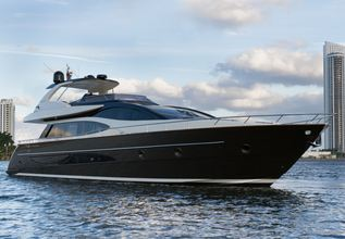 Namedropper Charter Yacht at Fort Lauderdale Boat Show 2014