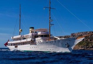 Haida 1929 Charter Yacht at Monaco Grand Prix Yacht Charter