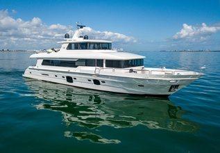 Sans Souci V Charter Yacht at Palm Beach Boat Show 2019