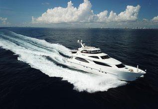 Huntress Charter Yacht at Palm Beach Boat Show 2019