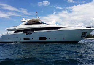 Ferretti 960 Charter Yacht at Miami Yacht & Brokerage Show 2015