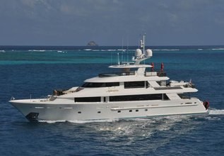 Aphrodite Charter Yacht at Palm Beach Boat Show 2014