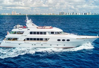 Relentless Charter Yacht at Fort Lauderdale Boat Show 2015