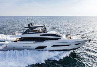 Ferretti 780/21 Charter Yacht at Miami Yacht Show 2020