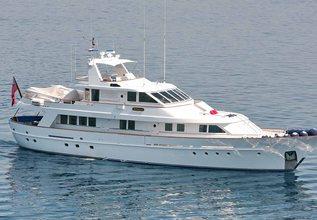 Aldonza Charter Yacht at Palma Superyacht Show 2014