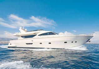 Alfea Charter Yacht at Mediterranean Yacht Show 2018