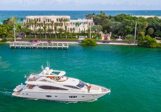 Indecent Proposal IV Charter Yacht at Palm Beach Boat Show 2016