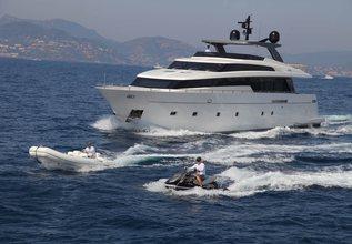 Indigo Charter Yacht at Palm Beach Boat Show 2014