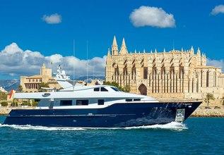 Virgen Del Mar V Charter Yacht at Palma Superyacht Show 2018
