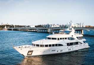 Alegria Charter Yacht at Palm Beach Boat Show 2019