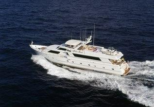 Bazinga Charter Yacht at Palm Beach Boat Show 2014