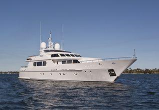 Milos at Sea Charter Yacht at Palm Beach Boat Show 2014