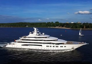 Amadea Charter Yacht at Dubai International Boat Show 2021