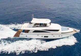Johnson 80/01 Charter Yacht at Fort Lauderdale International Boat Show (FLIBS) 2021