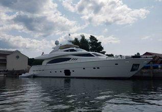 Dot Calm Charter Yacht at Miami Yacht Show 2018