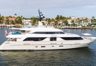 Arkadia Charter Yacht at Miami Yacht Show 2020