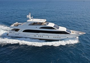 Mesmerize Charter Yacht at Palm Beach Boat Show 2014