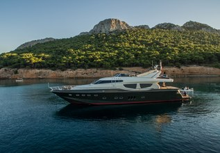 This is Mine Charter Yacht at Mediterranean Yacht Show 2017
