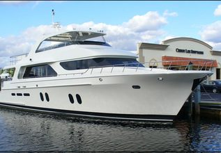 Jus Chill'N' Charter Yacht at Fort Lauderdale Boat Show 2015