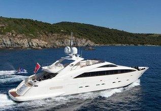 Whispering Angel Charter Yacht at MYBA Charter Show 2015